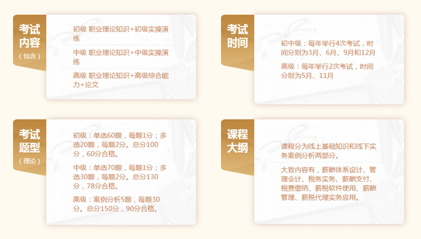 2020年黑龙江薪税管理师考试概况