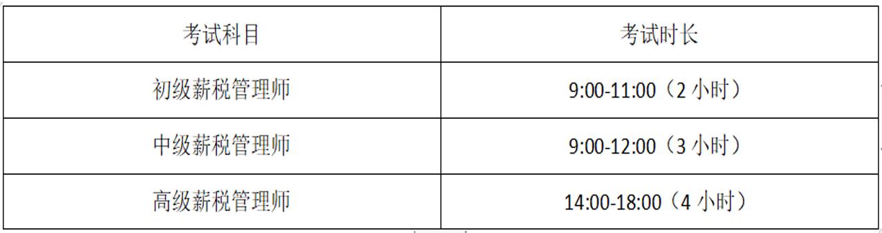 2020年北京薪税管理师考试时间