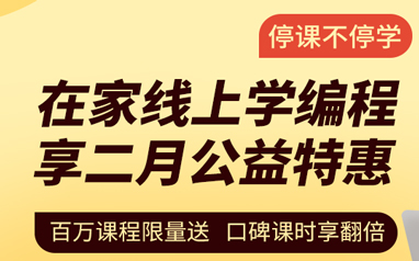 大庆少儿编程线上公益特惠课程
