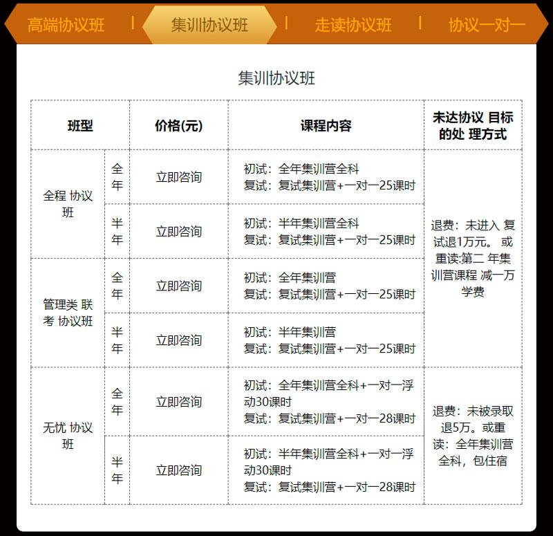 爱启航考研龙腾VIP协议班-集体协议班课程
