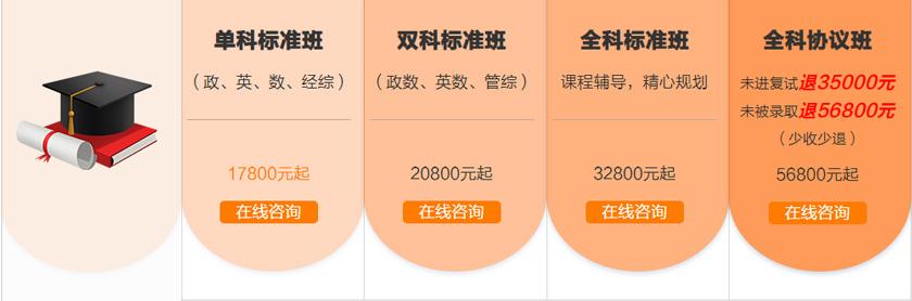北京中公考研2021全年集训营-单科标准班-双科标准班-全科标准班-全科协议班
