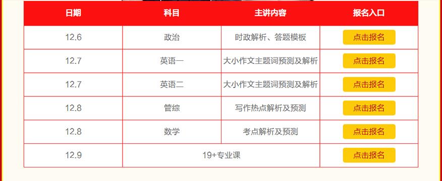 中公考研培訓-21考研沖刺開班課程