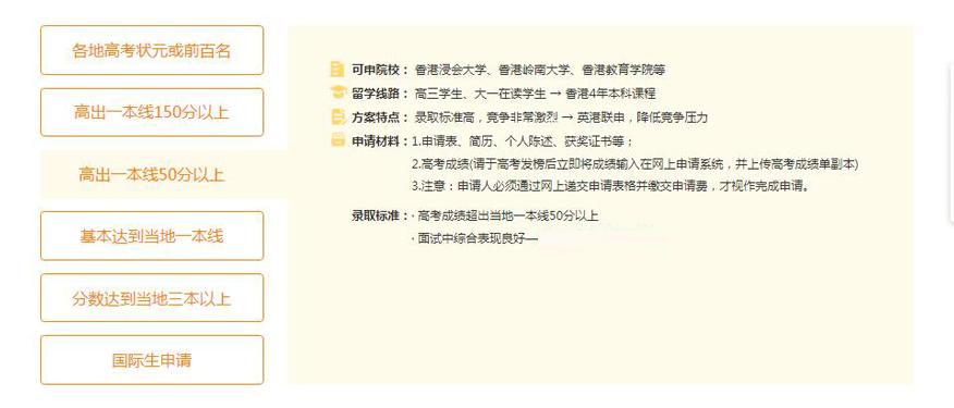 苏州新通留学培训学校-香港本科留学申请高出一本线50分及以上