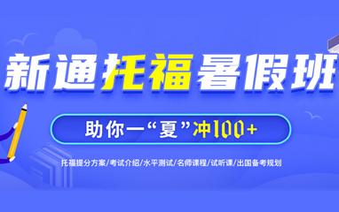 武汉新通教育托福暑假2021冲刺班